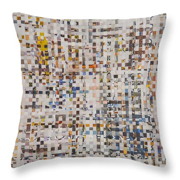 Throw Pillow featuring the mixed media Mix by Jan Bickerton