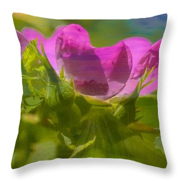 Throw Pillow featuring the photograph mix by Leif Sohlman