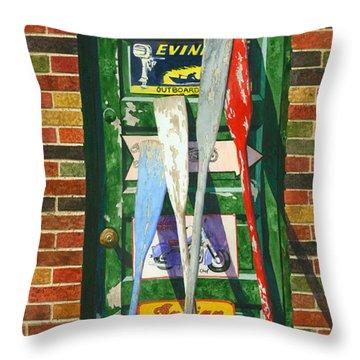 Mix Oar Match Throw Pillow by Marguerite Chadwick-Juner