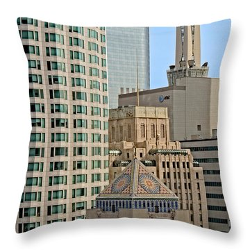 Mixed Architecture Throw Pillow
