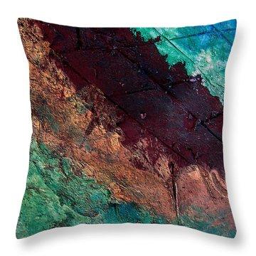 Mixed Media 04 By Rafi Talby Throw Pillow by Rafi Talby