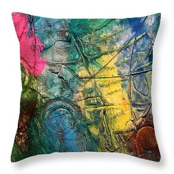 Mixed Media 11 By Rafi Talby Throw Pillow by Rafi Talby