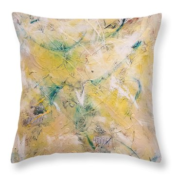 Mixed-media Free Fall Throw Pillow