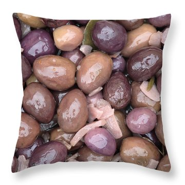 Mixed Olives Throw Pillow by Neil Overy