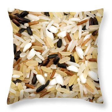 Mixed Rice Throw Pillow by Fabrizio Troiani