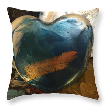 Throw Pillow featuring the photograph Mixing Pot by Paula Brown