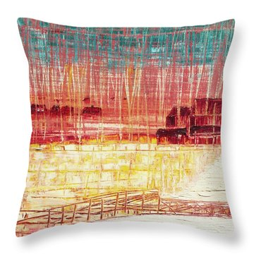 Mixville Road Throw Pillow