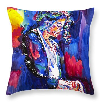 Mj Final Performance II Throw Pillow by David Lloyd Glover