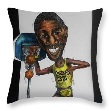 Mj Caricature Throw Pillow