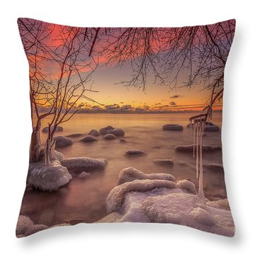 Mke Freeze Throw Pillow