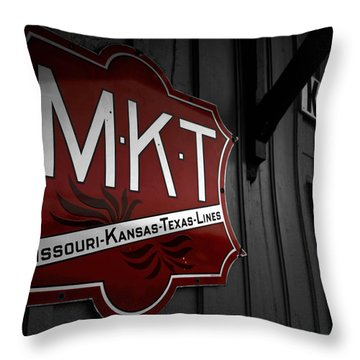 Mkt Railroad Lines Throw Pillow