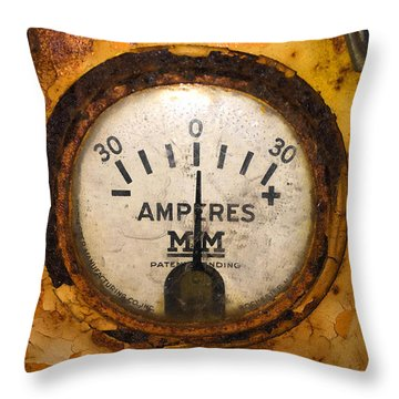 Mm Amperes Gauge Throw Pillow