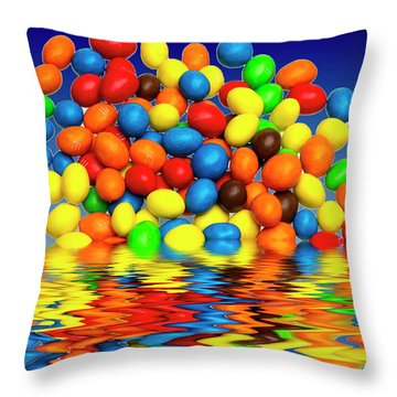 Throw Pillow featuring the photograph Mm Chocolate Sweets by David French