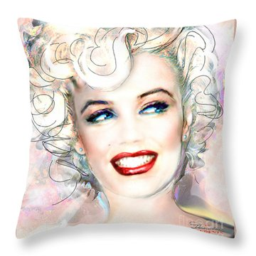 Mmother Of Pearl P Throw Pillow