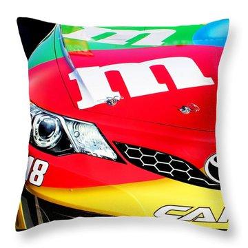 Mm's Nascar Throw Pillow by Natalie Ortiz