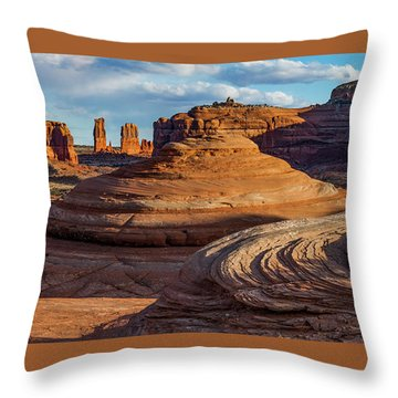 Moab Back Country Panorama 2 Throw Pillow