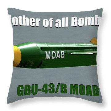 Throw Pillow featuring the painting Moab Gbu-43/b by David Lee Thompson