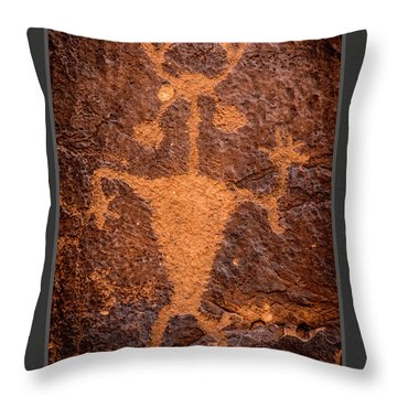Moab Man Poster Throw Pillow by Gary Whitton
