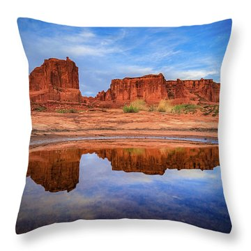 Moab Reflections Throw Pillow