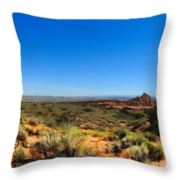 Moab Retrospective Throw Pillow by Laura Ragland