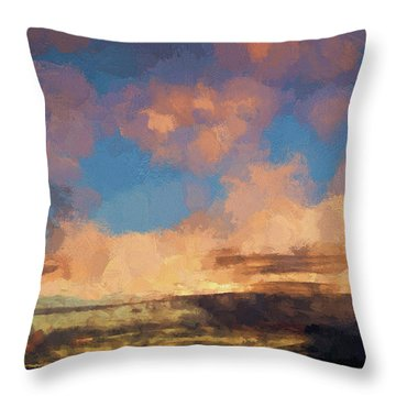 Moab Sunrise Abstract Painterly Throw Pillow by David Gordon