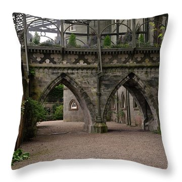 Moat At Inveraray Castle In Argyll Throw Pillow