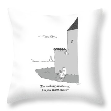 Moatmeal Throw Pillow