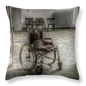 Mobile Teddy  Throw Pillow by Nathan Wright