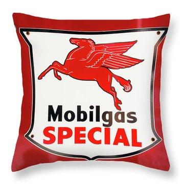 Mobilgas Vintage 82716 Throw Pillow