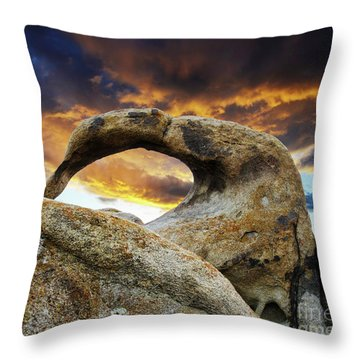 Throw Pillow featuring the photograph Mobious Arch California 7 by Bob Christopher