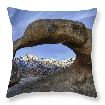 Mobius Arch And Lone Pine Mt. Throw Pillow