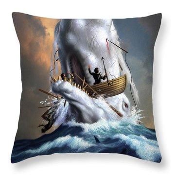 Moby Dick 1 Throw Pillow