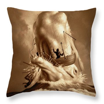 Moby Dick 2 Throw Pillow