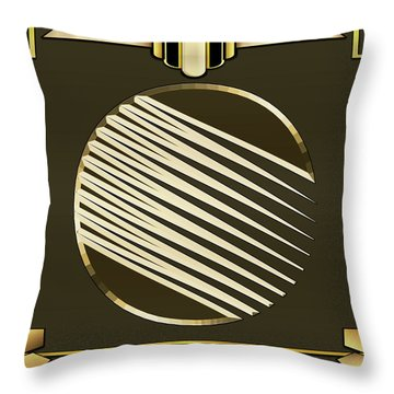 Mocha 1 - Chuck Staley Throw Pillow by Chuck Staley