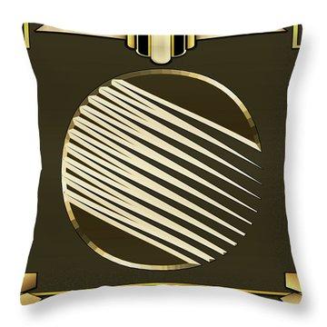Mocha 1 - Frame 1 Throw Pillow