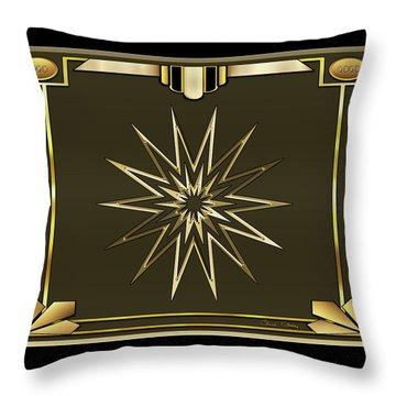 Throw Pillow featuring the digital art Mocha 3 - Chuck Staley by Chuck Staley