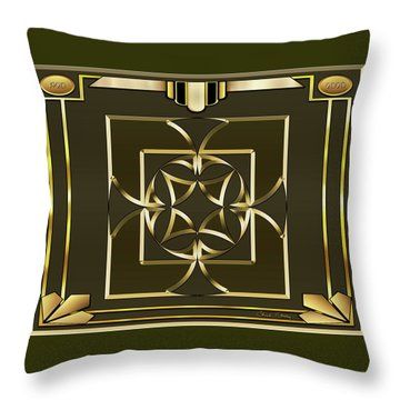Throw Pillow featuring the digital art Mocha 4 - Chuck Staley by Chuck Staley