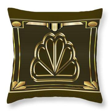Throw Pillow featuring the digital art Mocha 5 - Chuck Staley by Chuck Staley