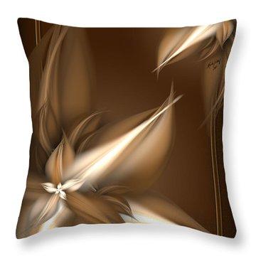 Mocha Cream Swirl Throw Pillow