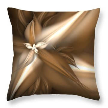 Mocha Cream Swirl Throw Pillow