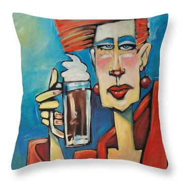 Mocha Double Shot Throw Pillow by Tim Nyberg