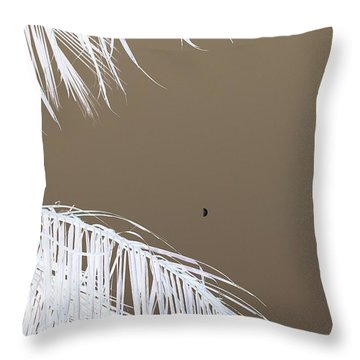 Mocha Moon II Throw Pillow
