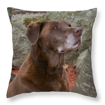 Mocha's Portrait Throw Pillow