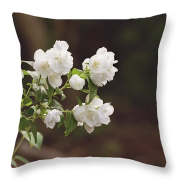 Throw Pillow featuring the photograph Mock Orange Blossoms by Kim Hojnacki