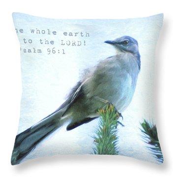 Mockingbird Scripture Throw Pillow