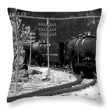 Model Locomotive Throw Pillow by Debra Forand