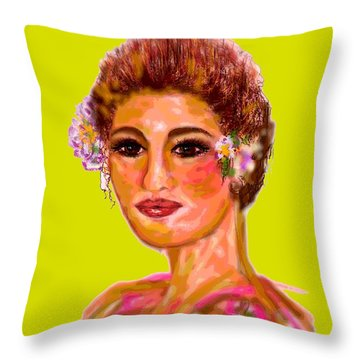 Throw Pillow featuring the digital art Model Mode by Desline Vitto
