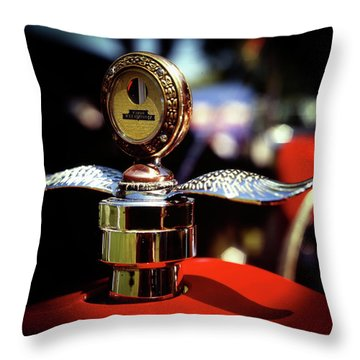 Model T Tempreature Gauge Throw Pillow