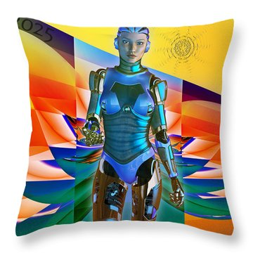 Throw Pillow featuring the digital art Model Zp23 by Shadowlea Is