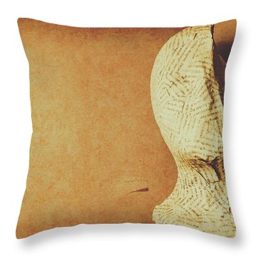Modelling The Right Brain Intellect Throw Pillow